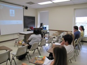 SMU students in History of South Africa skype with SAHO's Omar Badsha, 2012